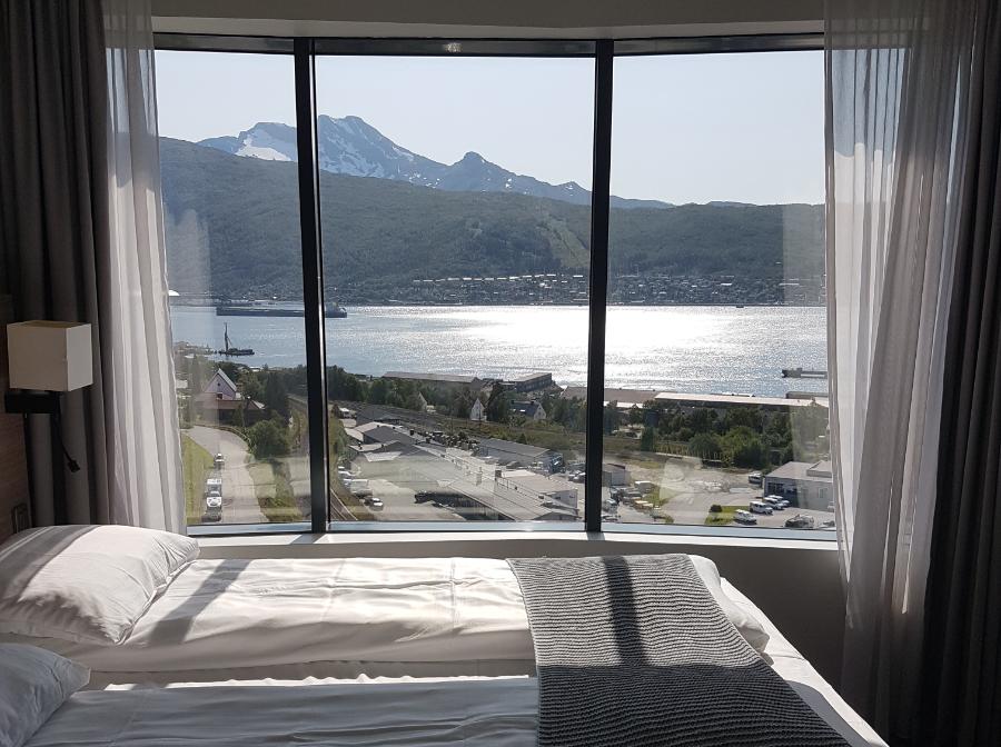 Ausblick Fjord Hotel Scandic Narvik